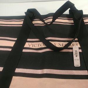 Victoria Secret Pink & Black Tote Bag NWT